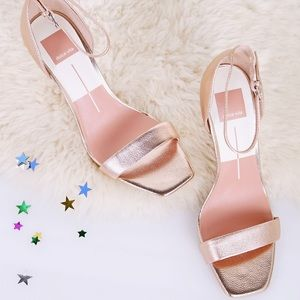 Dolce Vita Rose Gold Halo Heeled Sandals